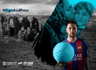 #SignAndPass: Η Μπαρτσελόνα στο πλευρό των προσφύγων (vid)